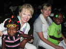Sheila Roy and Dorothea Green with kids at SAZ