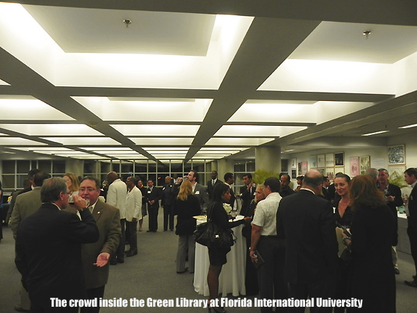 The crowd at the Green Library, FIU