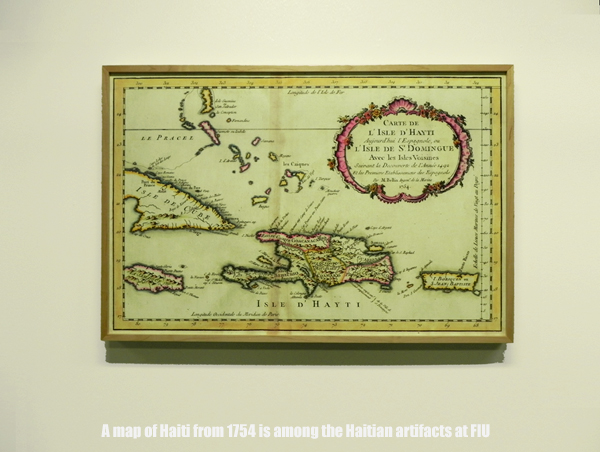 Map of Haiti from 1754