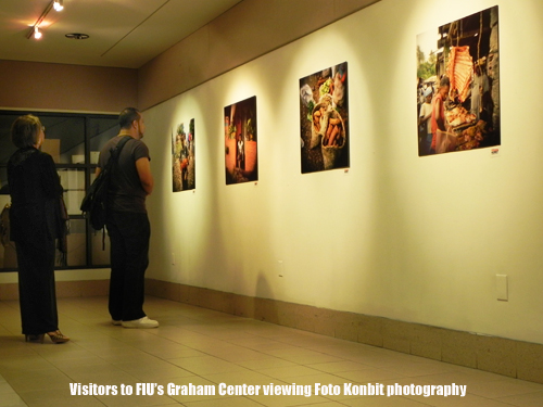 Viewers at FIU's Graham Center